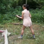WATCH: Woman discovers how much she likes firing an AK-47, then almost kills her boyfriend
