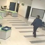This careless dad is lucky an airport security guard with superhero skills was nearby