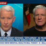 Anderson Cooper grills psychologist who said teen's wealth was a defense for killing four people