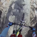WATCH: This mountain biker's helmet-cam video will give you a heart-attack