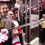 VIDEO: Watch this hockey player with a big heart make this kid's day