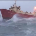 This footage of ships navigating storms is truly terrifying