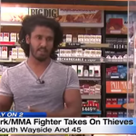 VIDEO: Thieves try to rob a gas station, quickly find out the clerk is a semi-pro MMA fighter