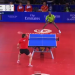 WATCH: This is the table tennis rally to end all table tennis rallies
