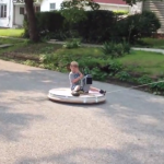 This greatest dad ever actually made a homemade hovercraft for his kids
