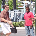 Nerd demonstrates his rapping skills to folks in the hood, actually gets some respect