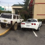 Corvette owner parks like a jerk, guy in a Jeep teaches him a valuable lesson