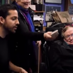 Watch David Blain's card trick make Stephen Hawking's face light up