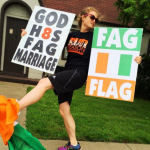 Idiots at Westboro Baptist Church put Ivory Coast's flag on signs attacking Ireland