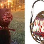 Never fear walking your dog alone on the woods with the 'Werewolf Muzzle'
