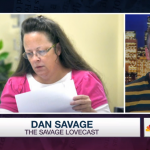 Dan Savage slams Kentucky clerk Kim Davis: 'She's been divorced three times and married four times'