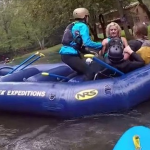 Two sisters pummel each other in vicious fistfight while whitewater rafting