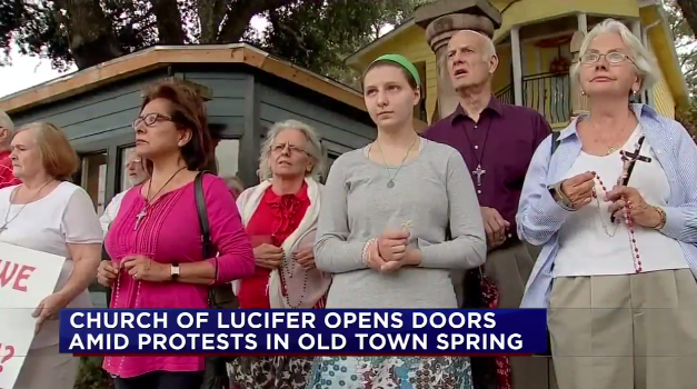 Texas christians are not big fans of religious freedom when it this friday in spring texas the church of lucifer opened its doors to the public but not before a throng of protesters gathered outside to greet them m4hsunfo