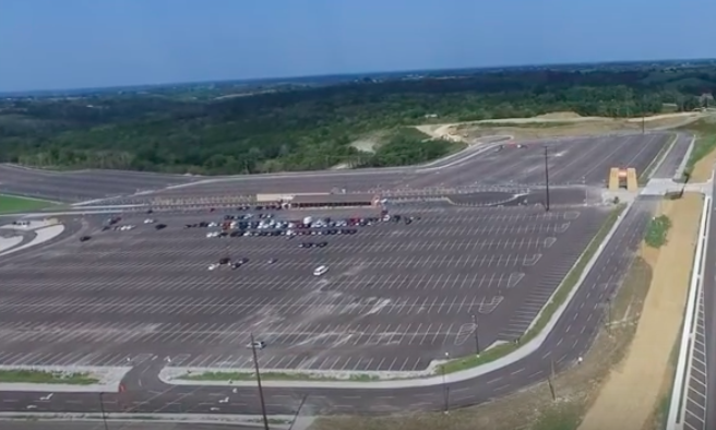 Ark Encounter empty parking lot