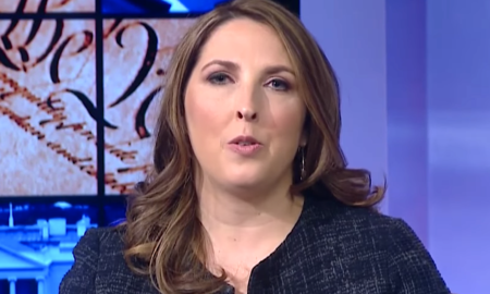 RNC chairwoman Ronna McDaniel makes D-DAy anniversary all about Trump.