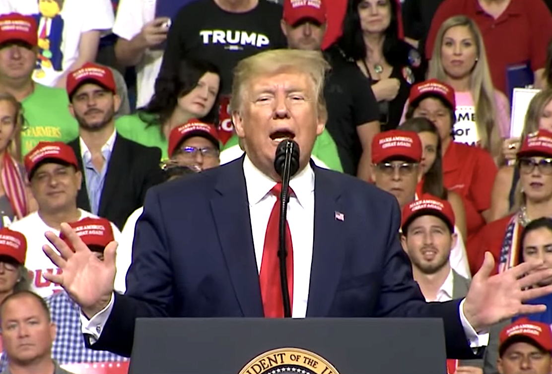 Trump promises to cure cancer at campaign rally