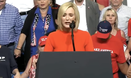 "Paula White prays against ""demonic networks."""