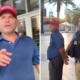 A Trump supporter swiped at a reporter's camera and later arrested