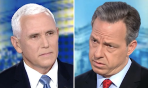 Jake Tapper asks Mike Pence how he can support the inhumane condition at migrant detention centers.