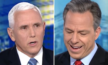 Jake Tapper reacts to Mike Pence's claims that the US has the cleanest air in the world.