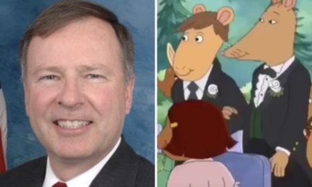 GOP congressman wants to defund PBS over cartoon that featured a gay wedding.