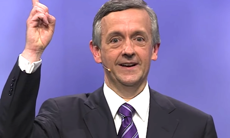 "Robert Jeffress thinks Trump's a Christian while calling the Democrats ""Godless."""