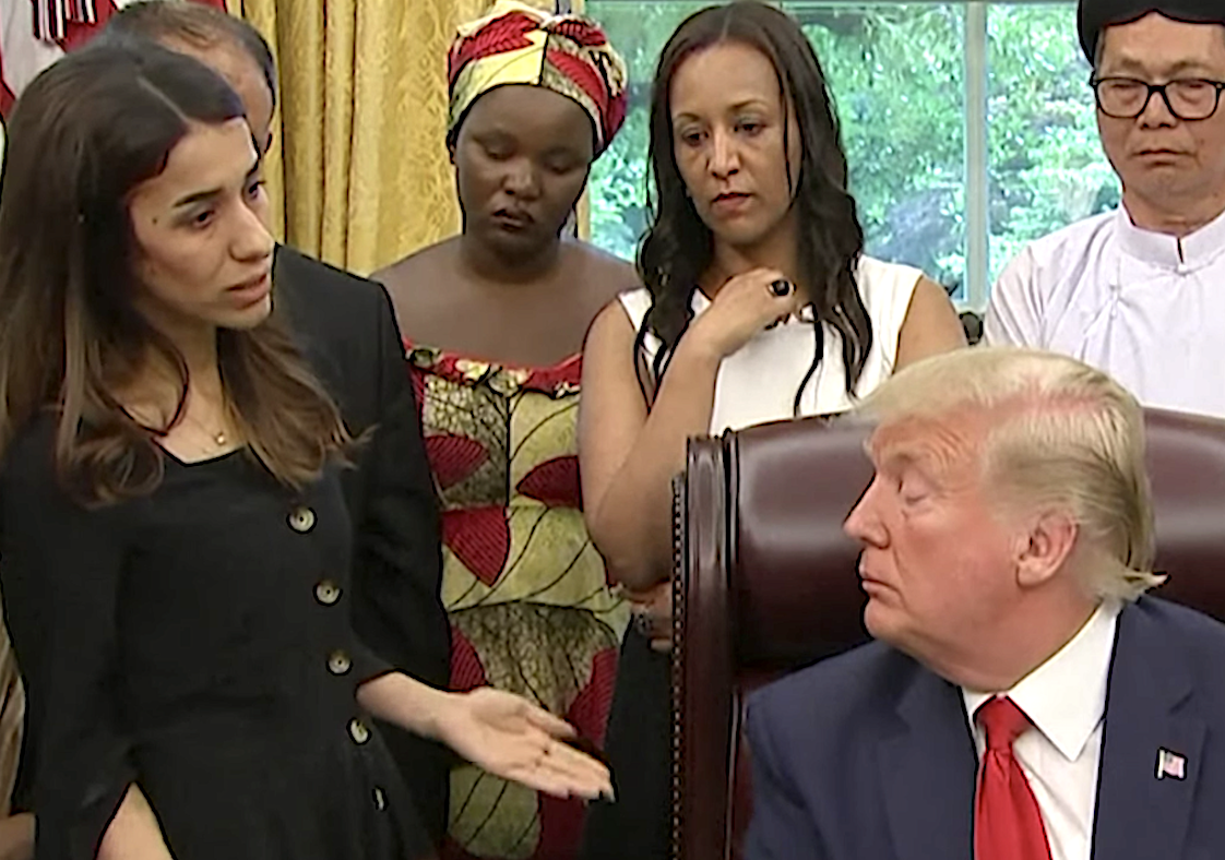 Trump didn't seem too familiar with Nadia Murad's story.