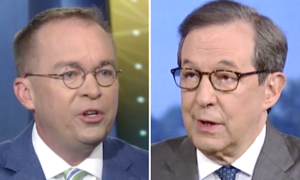 Chris Wallace challenge Mick Mulvaney on Trump's tweets.