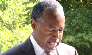 Ben Carson was told he couldn't hold a press conference on the grounds of a Baltimore church.